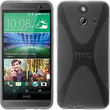 Silicone Case for HTC One E8 X-Style gray + protective foils