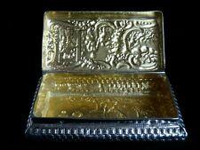 Victorian era Dutch Solid Silver Snuff/Trinket Box, London Import 1884
