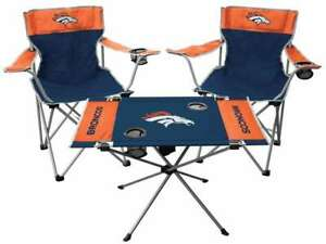 Denver Broncos  3 Piece Tailgate Kit - 2 Chairs - 1 Table