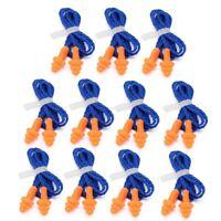 cordel y plastickbox 10 par de 3m los tapones tapones para los oídos protector auditivo m