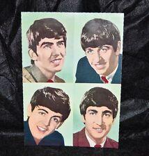 "VTG THE BEATLES John Paul George Ringo Jumbo Color Postcard Germany 5 3/4"" x 8"""