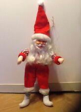 "11"" Vintage Santa Claus Ornament Doll Poseable Figure"
