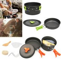 Outdoor Cookware Set Cooking Camping Hiking Cookware Picnic Bowl Pot Pan OR