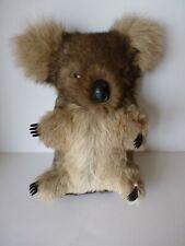 "Stuffed Toy Animal Koala Bear Brown Plush 13"" Tall Real Fur No Tush Tag"