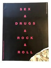 ORIG 1993~SEX DRUGS & ROCK & ROLL BOOK~192 pgs CHRIS CHARLESWORTH FIRST PRINTING