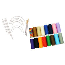 30Pcs Jeans Sewing Thread Spools Hand Stitching Curved Needles for Tailoring