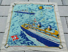 VINTAGE Foulard SCARF ship boat american export lines CONSTITUTION INDEPENDENCE