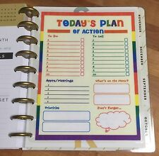 Today's Plan of Action Two-Sided Dashboard for use with Happy Planner