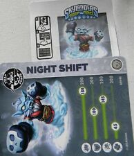 RARE Skylanders Swap Force NIGHT SHIFT Collector CARD & WEB CODE ONLY