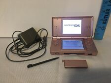Nintendo Ds Lite Handheld Console W/ Charger, Stylus Metallic Rose Pink Tested