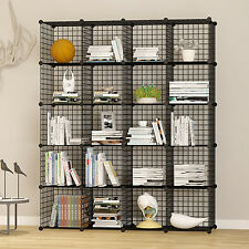 Unicoo-20 Cube Wire Grid Organizer, Bookcase, Storage Cabinet, Wardrobe Closet