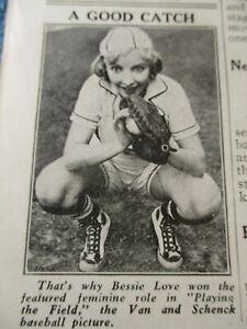LOEW'S JERSEY CITY DEC 1929 MOVIE HERALD BESSIE LOVE, LEILA HYAMS 13 LIVE GHOSTS