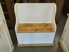 3' PAINTED SHABBY MONKS BENCH SEAT SETTLE PEW STORAGE DISTRESSED SAWN BESPOKE