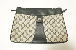 Authentic Gucci PVC Leather Shoulder bag Pouch #10007