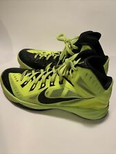 Nike Hyperdunk 2014 Volt Black 653640-700 Men's Size 9.5 Sneakers Shoes