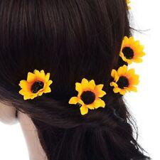 Sunflower Decor Bridal Daisy Flower Party Clips Headband Hair Pins Headpiece