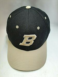 Embroidered B Team Logo Ball Cap Hat Black Fitted Size 7½ Adult/Teens by Zephyr