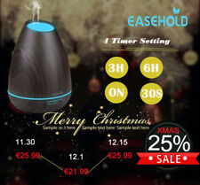 Easehold Aroma Diffuser Ultraschall Luftbefeuchter 4 Timer Humidifier 400ML Holz