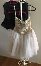 Sherri Hill Formal Dress RRP $650 Ivory DIAMANTÉ Corset & TUTU Sz Us8 Aus12