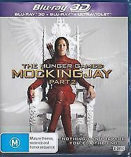 The Hunger Games - Mockingjay 3D & 2D (Blu-ray, 2016) Brand new & sealed
