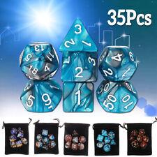 35PCS Polyhedral  Dice Set For Board Dungeons Dragons Dice Desktop RPG Game