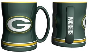 1 Green Bay Packers NFL 14 oz. Sculpted Relief Mug Coffee Cup