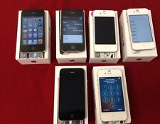 Lot of 6 Virgin Mobile Boost Mobile Apple iPhone 4S 8GB/16GB - white - black