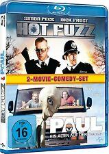 HOT FUZZ + PAUL, Ein Alien auf der Flucht (2 Blu-ray Discs) NEU+OVP