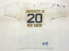 Vintage Champion University of New Haven #20 T-Shirt Jersey White M Tee USA