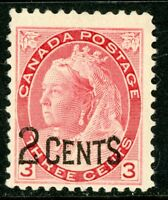 Canada 1899 Queen 2¢/3¢ Scott #88  Mint H901
