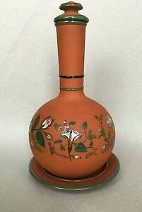 ANTIQUE WATCOMBE TERRACOTTA WATER COOLER enamelled vase urn Christopher Dresser