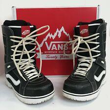 Vans Snow Boots UK 10.5 Black Textile Leather Lace Up Casual Winter 281853