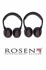 2 Rosen Original OEM AC3640 Dual Channel Fold Flat Wireless Headphones