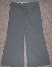 GAP Gray Striped The Trouser Low Rise Wide Leg Dress Pants Size 8 Ankle NWOT