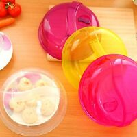 Plastic Microwave Plate Cover Food Dish Steam Vent Splatter Lid Cooking New