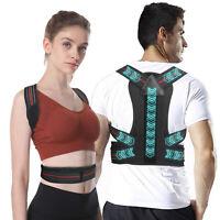 Men Women Adjustable Posture Corrector Back Shoulder Support Brace Pain Relief