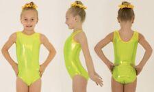 Shiny Lime Green Size 22 Leotard Gymnastics Age 2-3