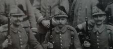 Sachsen, Dresden Jäger in Feldgrau mit Bataillonsnummer 13 am Tschako anno 1916