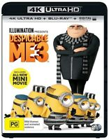 Despicable Me 3-4K (UHD)(2 DISC) (BLU-RAY)-Brand New-Still Sealed