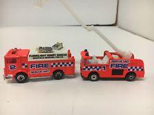 MATCHBOX SNORKEL RESCUE UNIT FIRE TRUCK 1 & 2 AUXILIARY POWER TRUCK NM