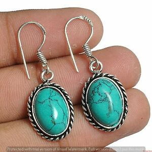 Turquoise Earring 925 Sterling Silver Plated Earring Jewelry E-1167