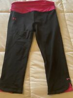 Women's Size Medium Under Armour Compression Athletic Fitted Crop Leggings Pants