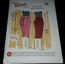 SIMPLE SEW 2 in 1 skirt collection  sewing pattern  UK 8-16, uncut