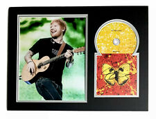 More details for signed ed sheeran shivers fully mounted cd display rare thinking out loud