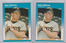1987 Fleer Update Glossy #U-129 Matt Williams Lot of 2