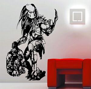 Predator Skulls Movie Wall Art Stickers Decals Vinyl Aliens vs Predator AVP