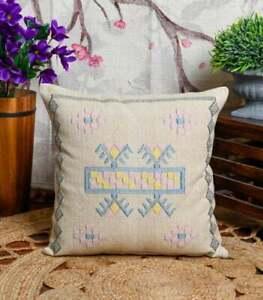 Moroccan Cactus Silk Inspired Cushion |Repurposed Sabra Rug Throw Accent Pillow
