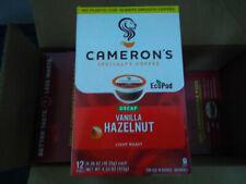New listing 72 Decaf Cameron's Coffee Vanilla Hazelnut Single Serve Pods Compatible Keurig