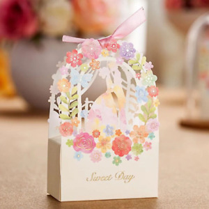 25pcs Favor Ribbon Gift Box Candy Boxes Wedding Boxes Gift Favor Flower Party
