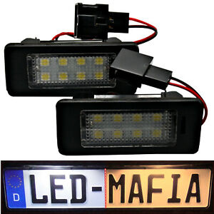 Seat Alhambra II Ibiza St - LED License Plate Light Module - 6000K Xenon SMD